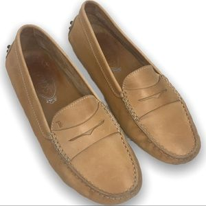 Tods Gommino Nut Brown Leather Loafers